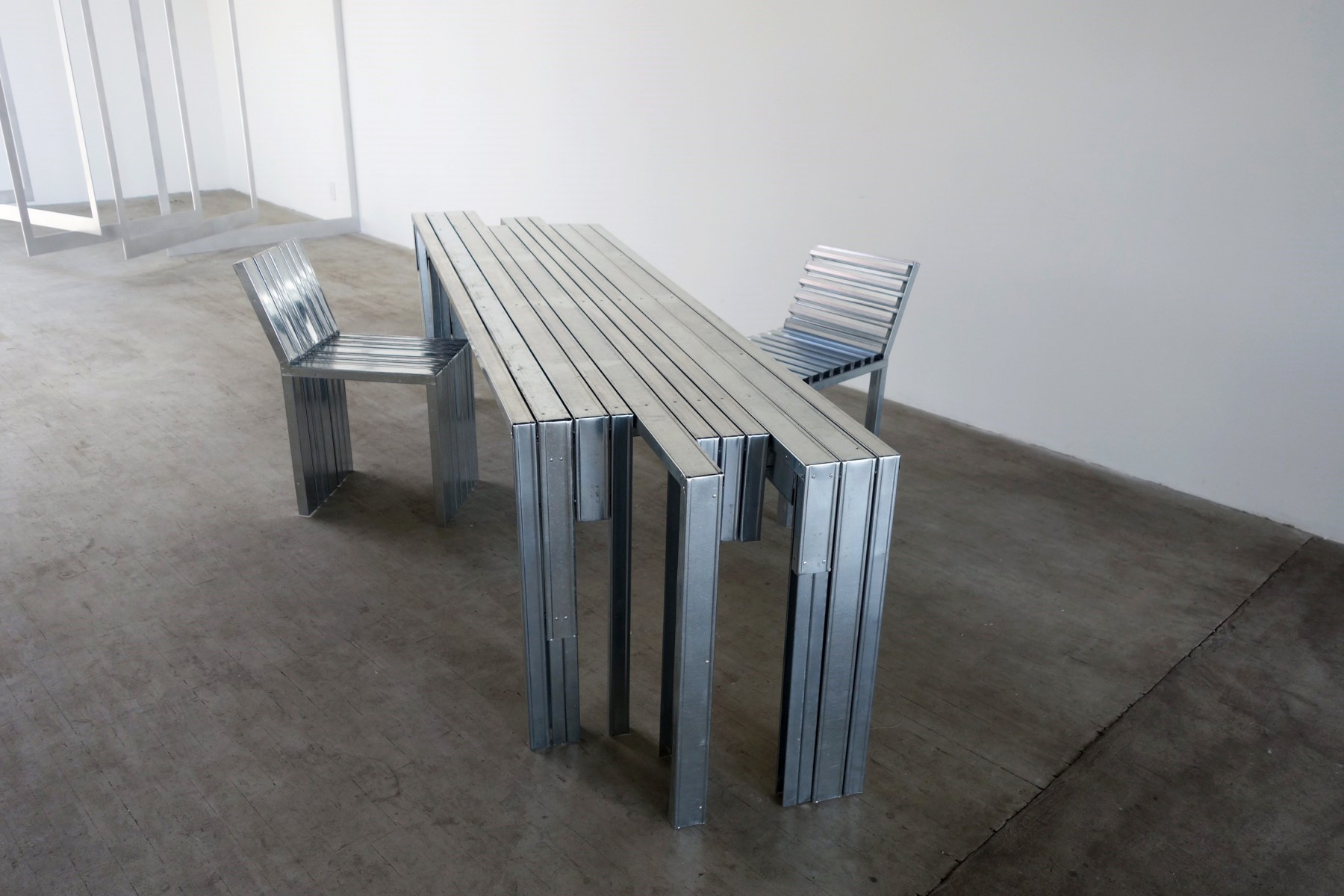 Metal stud furniture by Takeshi Miyakawa